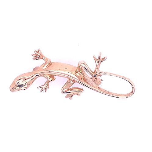 Estate 14kt Yellow Gold Lizard Pin