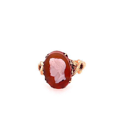 Estate 14kt Yellow Gold Cameo Style Ring