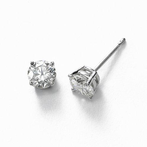 14kw  1.02tw Diamond Stud Earrings