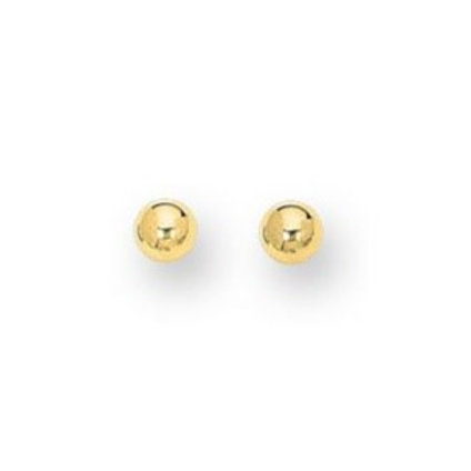 14kt Yellow Gold Classic 4mm Ball Studs