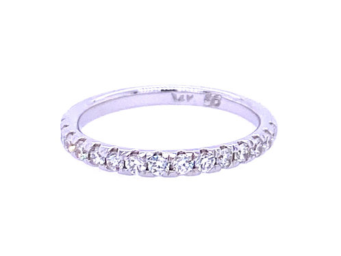 14kt White Gold Shared Prong Diamond Wedding Band