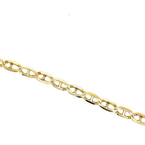 Estate 10kt Yellow Gold Mariner Link Bracelet