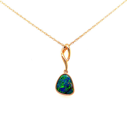 14kt Yellow Gold Australian Opal Doublet