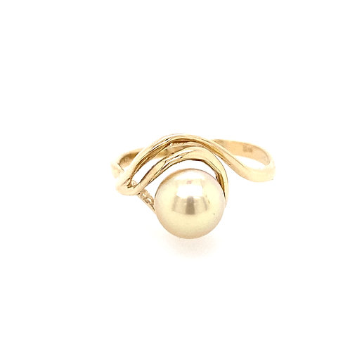 Estate 14kt Yellow Gold Pearl Ring