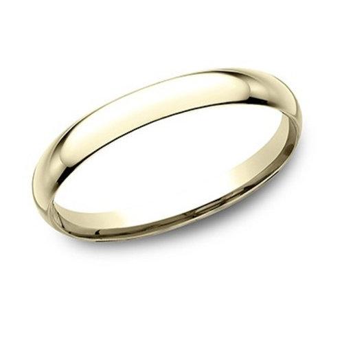 14kt Yellow Gold Ladies Comfort Fit Plain Wedding Band
