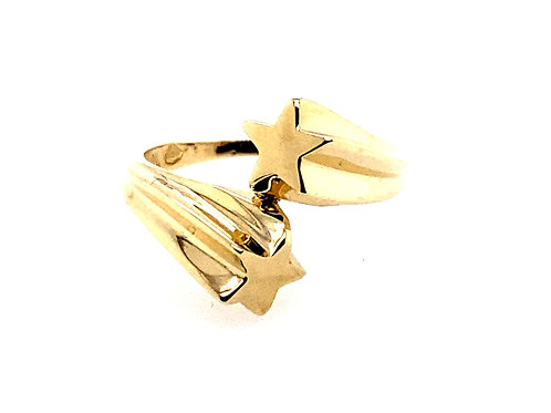 Estate 14kt Yellow Gold Stars Ring