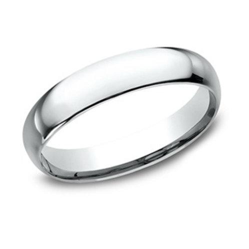 14kt White Gold Men's Comfort Fit Plain Wedding Band