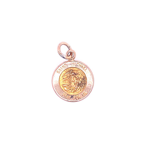 Estate 14kt Yellow Gold St. Michael Baby Medal