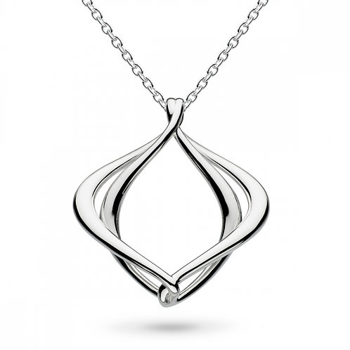 Sterling Silver Entwine Alicia Necklace