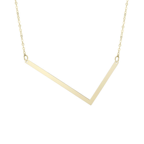 """14kt Yellow gold Initial """"L"""" Pendant"""