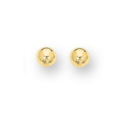 14kt Yellow Gold Classic 6mm Ball Studs