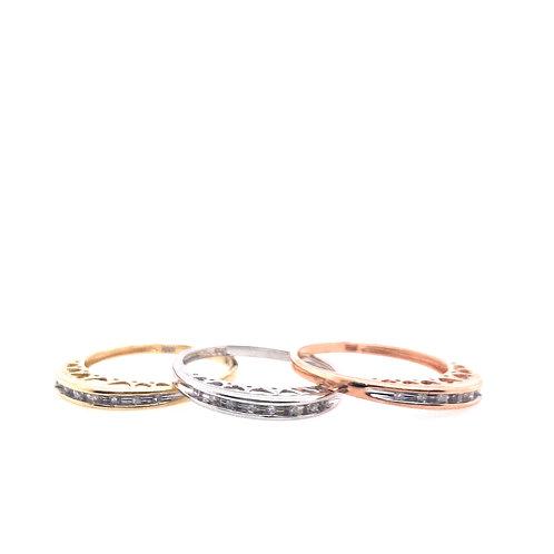 Estate 10kt Gold Three Piece Diamond Ring Set