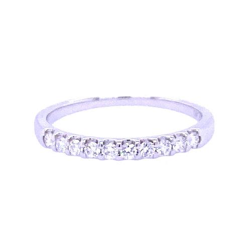 14kt White Gold Shared Prong Diamond Wedding Band