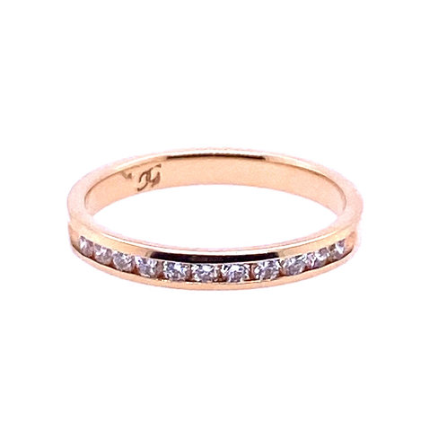 14kt Yellow Gold Diamond Channel Set Wedding Band
