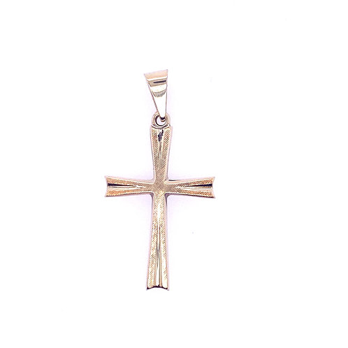 Estate 14kt Yellow Gold Cross Charm