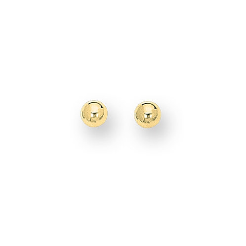 14kt Yellow Gold Classic 3mm Ball Studs