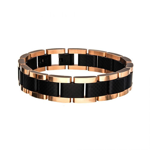 Stainless Steel Black/Rose Gold Bracelet