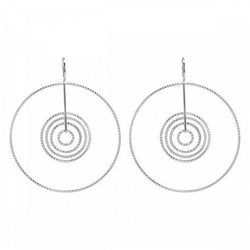 Sterling Silver Multiple Circles Dangle Earrings