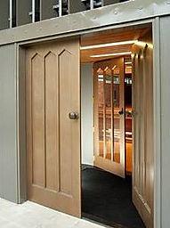 Metalier Brass liquid metal coating over MDF doors .