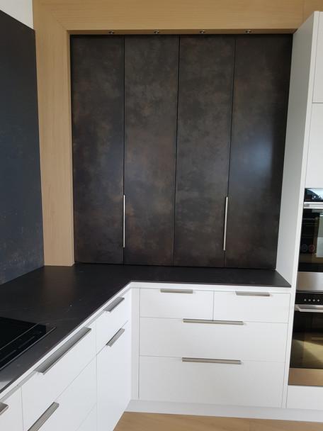Cupboard doors in Aged Dark Moody Bronze