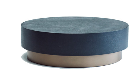 David Shaw's Brooklyn Coffee Table with Woven Black Copper top and Smooth Bronze base.
