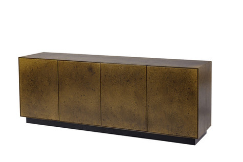David Shaw's Harley Cabinet coated in Water Aged Brass
