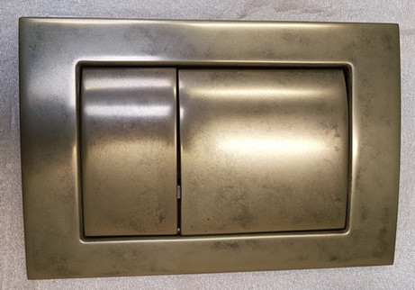 Blush Aged Brass to flush plate