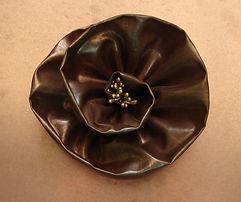 Metalier Copper liquid metal coating applied to fabric.