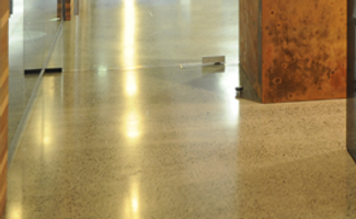 Halo Enhancer Plus and Halo Concrete applied to concrete floor