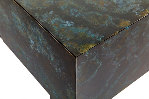 MDF substrate coated in Metalier Brass Nebula finish