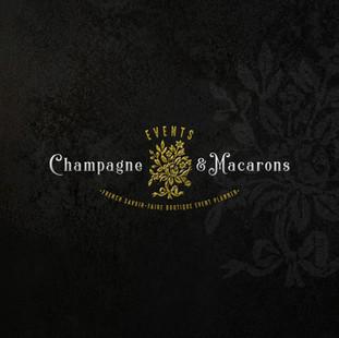 Champagne & Macarons - Logo design