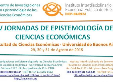 XXIV JORNADAS DE EPISTEMOLOGIA DE LAS CIENCIAS ECONOMICAS 2018