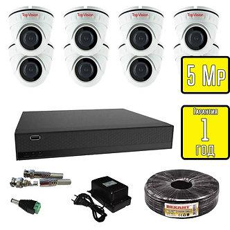 Комплект видеонаблюдения HD 8 внутренних камер Topvision 5 Мп