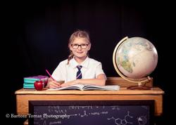 Portrait school girl