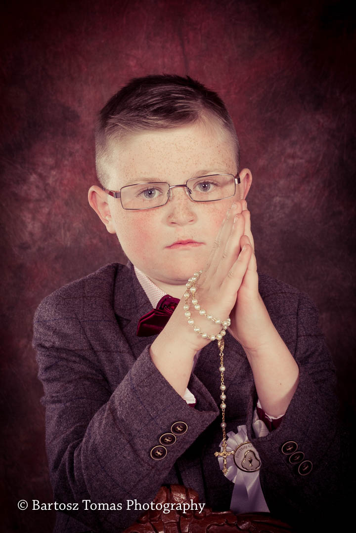 Communion portrait of the boy