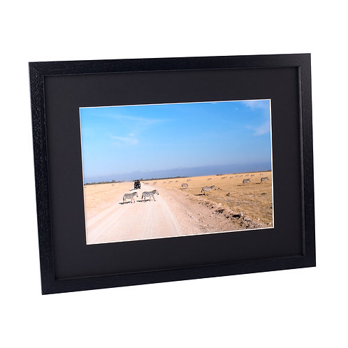 Black Frame with print 8x10in
