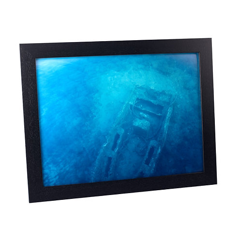 Black Frame panoramic 68x 34cm