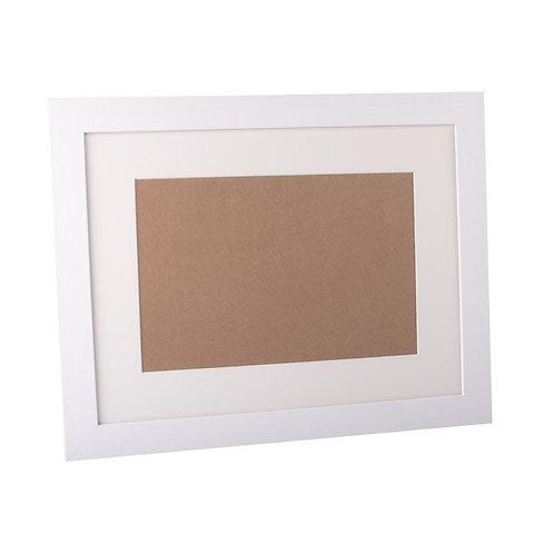 White Wooden Frame 30x22inch