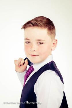 Portrait of communion boy