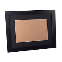 picture of frame, black frame, frame with mount, empty frame