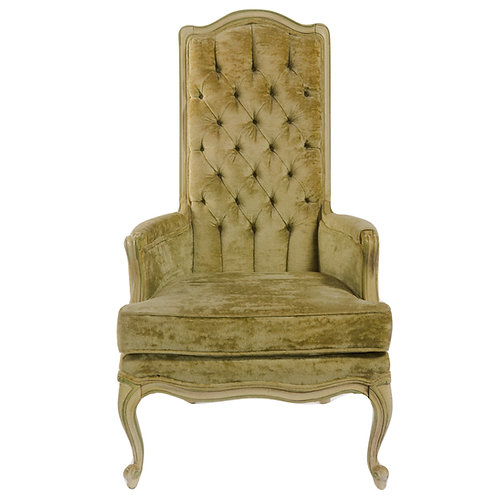 High Back Crushed Velvet Chair