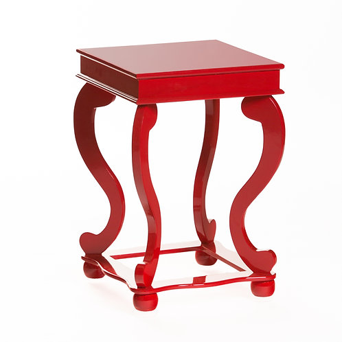 Red Lacquer end table