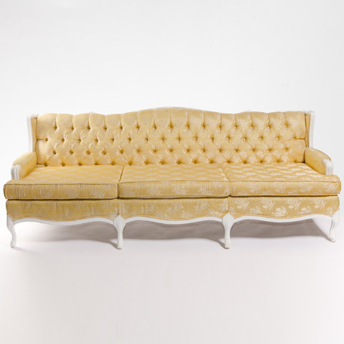 Superior Yellow And White French Provincial Sofa | John Gandy Events   Tallahassee    Event Planning, Design U0026 Production
