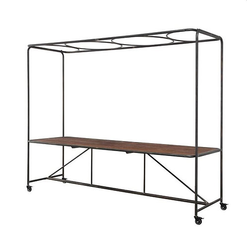 Metal & Wood Table with Trellis