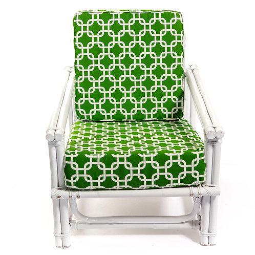Green Quatrefoil Chair