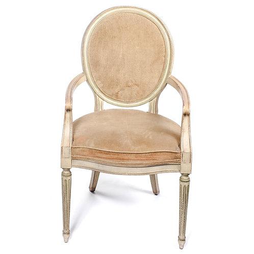 Gold Velvet Arm Chair