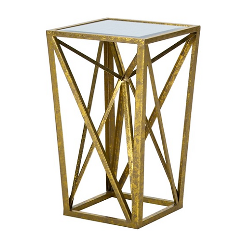 Gold Mirror Side Table