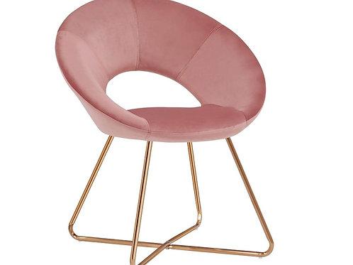 Blush Velvet Accent Chair