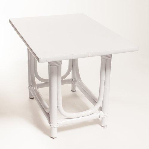 White Bamboo Side Table