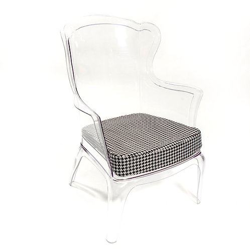 Wing Back Ghost Chair